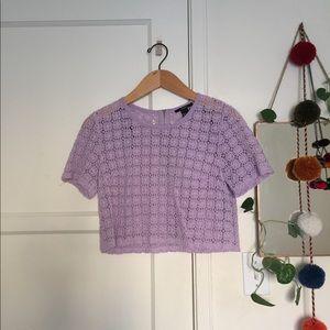 F21 Crocheted Crop Top